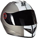 SOXON ST-666 Deluxe Titan · Urban Moto Cruiser Casco Integrale Urbano Scooter Helmet Sport · ECE certificato · compresi parasole · compresi Sacchetto portacasco · Grigio (Titan) · M (57-58cm)