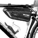 LUROON Borsa Telaio Bici Impermeabile, Borsa Triangolare da Bicicletta Grande capacità 1.5 L Adatto Bici Borse Bicicletta per Bici/MTB/BMX/Bici Corsa ECC (Nero)