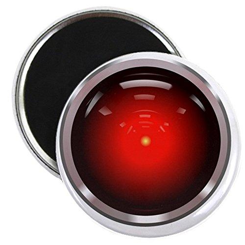 CafePress–Hal 9000ojo–2.25'redondo imán, Imán de frigorífico, imán de botón estilo