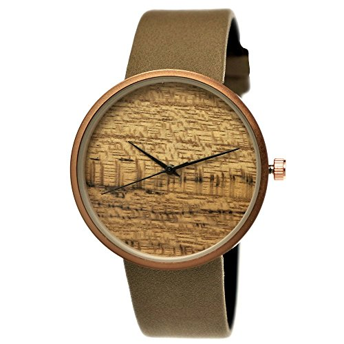 Elegante Pure Time Designer Damen-Uhr Öko Natur Holz-Uhr Armband Uhr Analog Klassisch Quarz-Uhr Armbanduhr Schwarz Braun Beige Grau Khaki...
