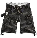 DELTA Division Vintage Herren Cargo Shorts, blackcamo, Größe S