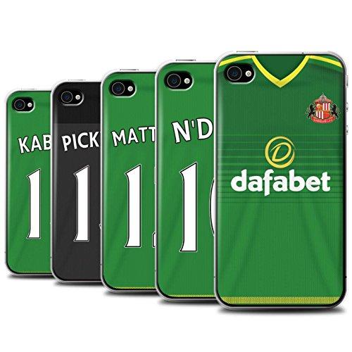 Offiziell Sunderland AFC Hülle / Case für Apple iPhone 4/4S / Pack 24pcs Muster / SAFC Trikot Away 15/16 Kollektion Pack 24pcs