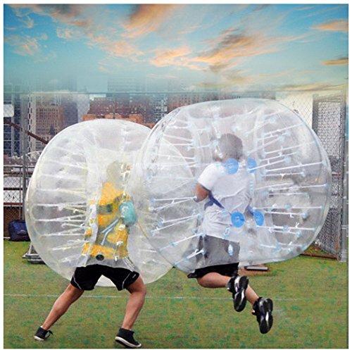 cooshional aufblasbar Bumper Bubble Fußball, Human Türklopfer Body transparent Zorbing Ball für Jugendliche und Erwachsene 1,5m Durchmesser–[UK Lager] (Türklopfer Kleine)