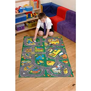 Giant Roadway Playmat - A Fun Addition For The Bedroom, Playroom, Nursery Or Class Room! (Left Hand Drive)