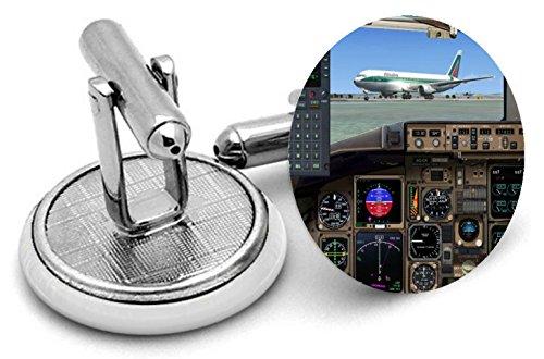 Rushjets ViTESSE de l'air d'aviation pilotes Boutons de manchette In- Livrées dans une pochette cadeau type 5
