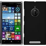PhoneNatic Custodia Rigida per Nokia Lumia 830 - gommata nero - Cover + pellicola protettiva