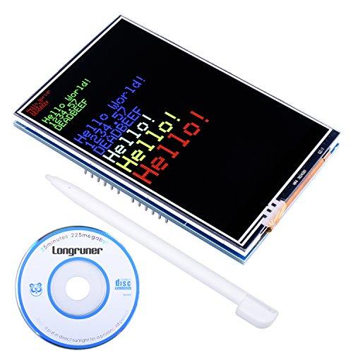 Longruner Arduino Mega 2560 Board Module per Arduino UNOR3 Schermo TFT da 3.5 Pollici con SD Card Socket Tutti i Dati Tecnici in CD LSC3A-1