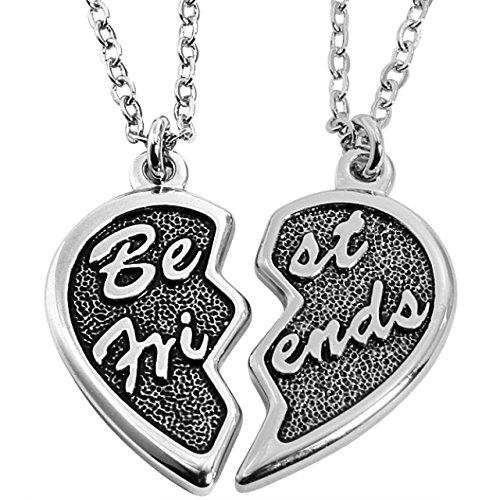 *Partnerketten Best Friends Freunde Liebe Freundschaftsketten Partner Ketten Herz*