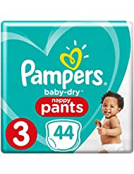 Pampers Baby-Dry 44 Nappy Pants Easy to Change, 6 - 1, 1 kg, Size 3