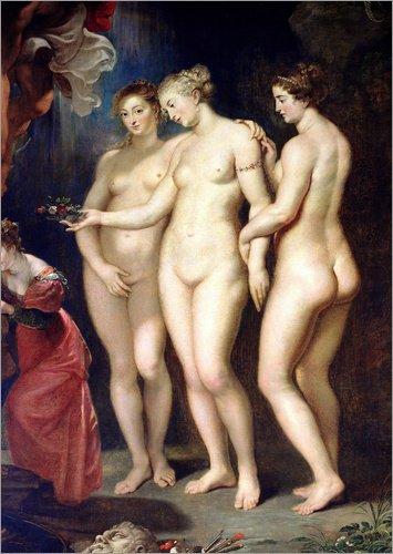 Leinwandbild 120 x 170 cm: Medici Zyklus: Bildung von Marie de Medici (Detail) von Peter Paul Rubens...