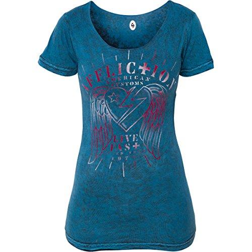 Affliction T-Shirt Speeder Rev. Blau Blau