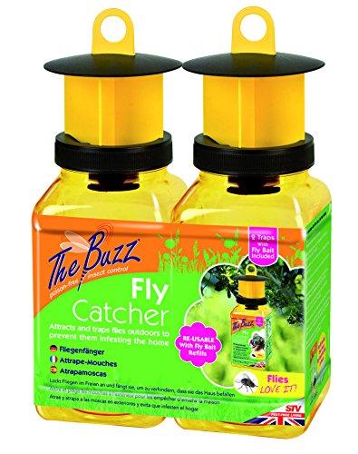The Buzz Fly Catcher (Super Efficace, attrattore di Insetti Riutilizzabile per Uso...