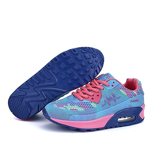 SITAILE Damen Turnschuhe Klassische Low Top Sportschuhe Trendfarben Runners Sneakers Laufschuhe Blau