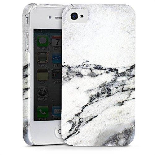 Apple iPhone X Silikon Hülle Case Schutzhülle Stein Marmor Marble Look Muster Premium Case glänzend