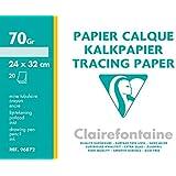 Clairefontaine Pochette Papier Calque Superieur 24x32 20f 70/75g