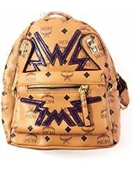 moda femenina Hombros Divertidos Mujeres mochila bolsas de estudiantes marrón