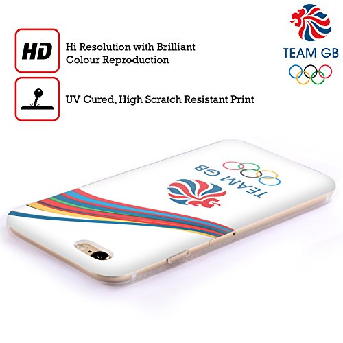 Official Team GB British Olympic Association Bahia Background Rio Soft Gel Case for Apple iPhone X Righe Fluide 2