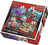 Trefl - 57967 - Puzzle Classique 4 En 1 - 35-48-54-70 Pièces - Cars