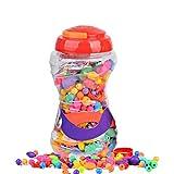 ROSENICE Snap Pop Beads Juguete de Niñas Traje de Joyas DIY Diversión de la moda para Collar Anillo Pulsera Arte Artesanía Regalo Juguetes para Niños Niñas 380 Piezas
