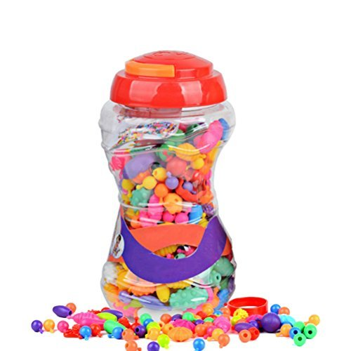 rosenice Snap Pop Beads Mädchen-Anzug Schmuck DIY Spielzeug Spaß von der mode-Halskette Ring Armband Kunst Handwerk Geschenk Spielzeug für Kinder Mädchen 380Teile