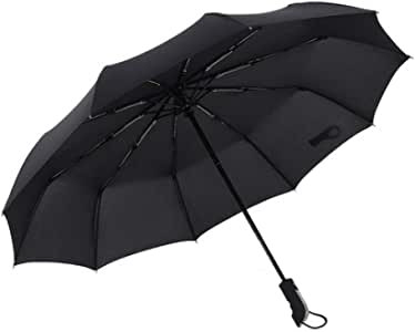 Teflon-Coating Small Myzixuan,Windproof Umbrella Folding Umbrella for Mens Women Water Resistant Strong Windproof Compact Travel Umbrella with Auto Open Close Light-Weight