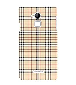 FUSON Plaid Striped Fabric 3D Hard Polycarbonate Designer Back Case Cover for Coolpad Note 3