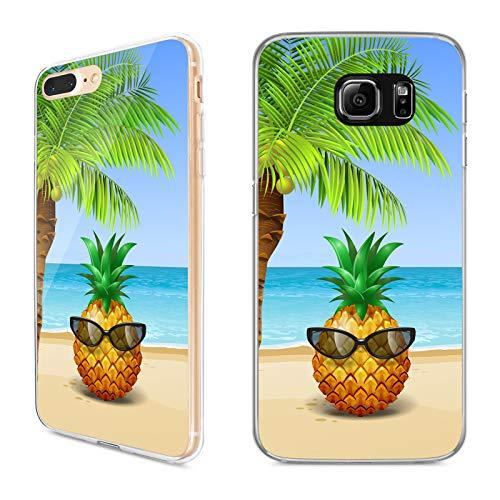 Premium Handyhülle 'Tropical' für Samsung Galaxy - Silikon   Tropen   Palmen   Urlaub   Strand   Ananas   Früchte   Flamingo, Handy:Samsung Galaxy S8 Plus, Hüllendesign:Design 1   Silikon Klar (Urlaub Flamingo)