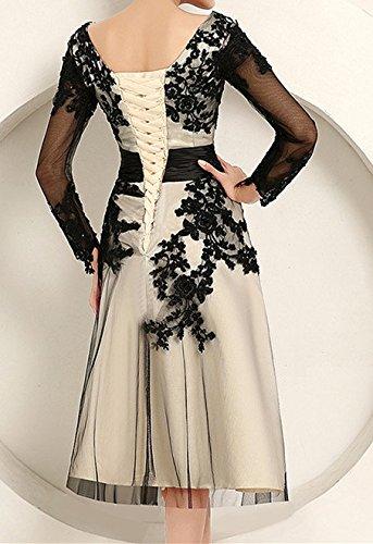 PLAER femmes Sexy Engrener Tutu robe demoiselle d'honneur robe brodé soir robe cocktail Robe Noir