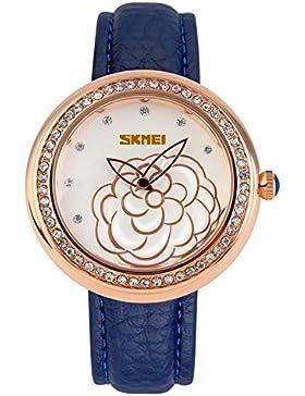 Elegante stilvolle Camellia klassische Vintage-Uhren/Mädchen Strass Mode Uhr-C