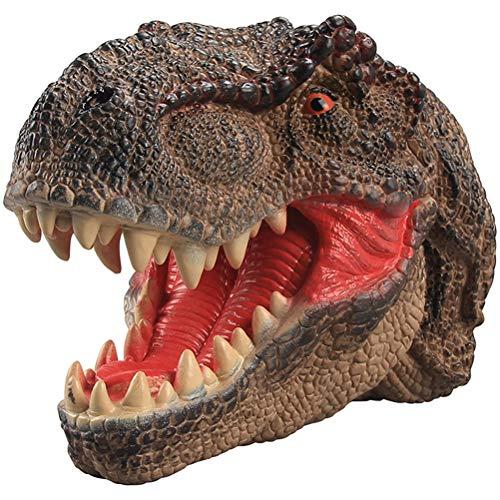 HUPLUE - Puptera de Mano para niños con Dinosaurio de Goma Suave Realista Carnotaurus rol Juguete Juguete Regalo
