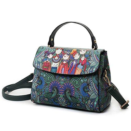 Damen Umhängetasche Herbst Trend von Drücken Messenger Taschen für Frauen Schultertasche M053DE-F