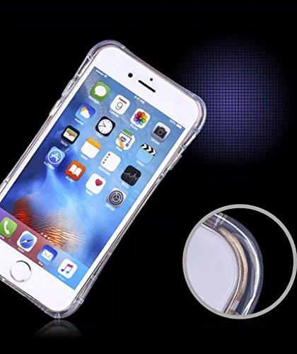 DBIT Arco Calcio dangolo Gasbag Protettiva Cover Sottile TPU Softshell Custodia per Apple iPhone 6 Case iPhone 6s Telefono Borse Rose-Oro Oro