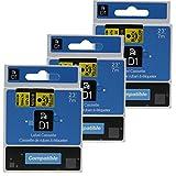 3er Schriftband Kompatibel Dymo D1 45018 S0720730 Schwarz auf Gelb 12mm x 7m Etikettenband für DYMO LabelPOINT LabelManager Label Manager 160, Label Manager 210D, Label Manager 280, Label Manager 420P