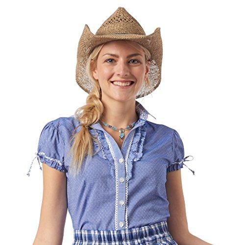 Unbekannt Bluse Phoebe blau weiß | 40 -