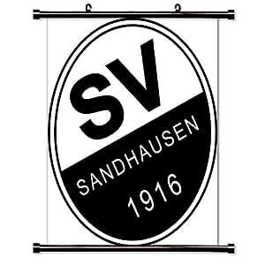 sv sandhausen futbal club bundesliga league fabric wall scroll poster 32x38 inches. Black Bedroom Furniture Sets. Home Design Ideas