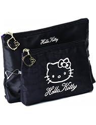 Sanrio Hello Kitty - Rock Chic - 2 Pieces Toiletry und Make-up Bag, 1er Pack (1 x 180 g)