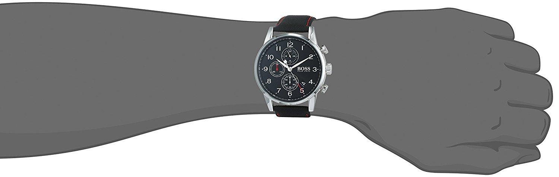 51LZbSuFBQL - Hugo BOSS Reloj Análogo clásico para Hombre de Cuarzo con Correa en Tela 1513535