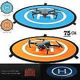 iMusk Drohne und Quadcopter Landing Pad RC Aircraft Soft Landing Gear Oberfläche aus Wasserdichter Eco-Friendly Gummi für DJI Mavic Phantom 3 4 Spark Mavic Pro (75cm)