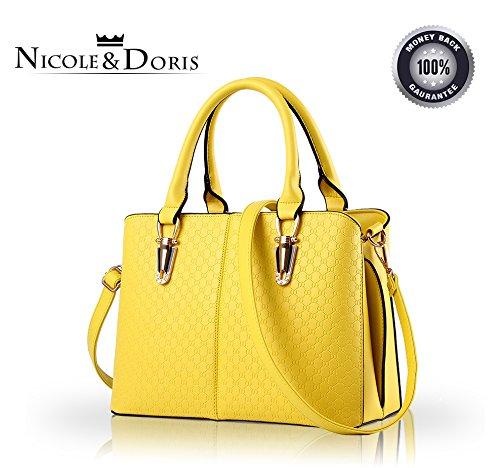 NICOLE & DORIS Bolsos de Mujer Bolsos de Mano Bolsos de la Moda para Damas Bolsos de Hombro Bolsos...