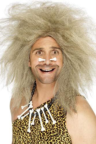 Smiffys, Herren Crazy Höhlenmensch Perücke, One Size, Blond, 42080 (Up Ideen Crazy-dress)