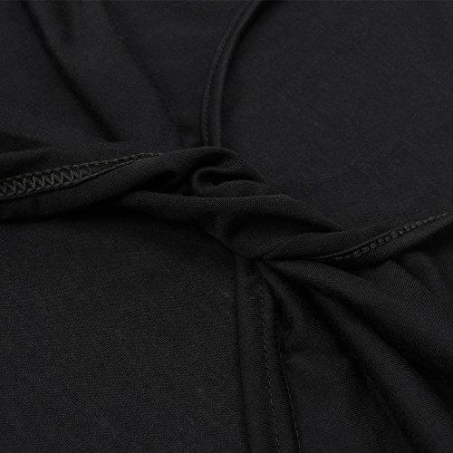 Walant Damen Sexy Ärmellos Rückenfrei Oberteile Top Beiläufiges T-Shirt Tops Weste Schwarz