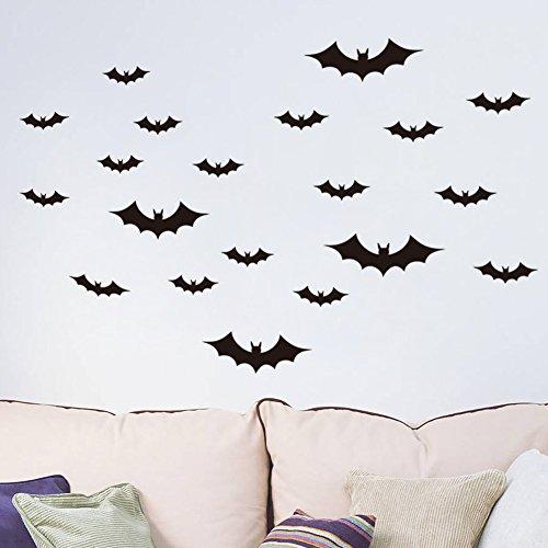 BB.er Halloween Fledermaus Wandaufkleber Wohnzimmer Wand wasserdicht abnehmbare Aufkleber