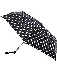 Fulton - Mini parapluie compact - design plat - motif pois - femme