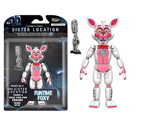 Mozlly Multipack - Funko Five Nights at Freddy's Sister Location Funtime Foxy 5 inch Action Figure Collectible Toy (Pack of 6) - Item #S120062_X6