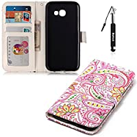 Samsung Galaxy A5 2017 Case,Galaxy A5 2017 Leather Case,Flip Wallet case for Samsung Galaxy A5,Huphant Colorful Flower,Animal Picture,Cartoon Style, Chili Flower Pattern Case,Pink Theme,Embossed Feel,Smooth Touch,Cute Art Painted Premium PU Leather Pink C