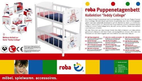 Roba 98831 - Teddy College Bambole Letto a Castello