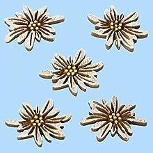 3860638 - 10er Pack Streudeko Edelweiss aus Holz