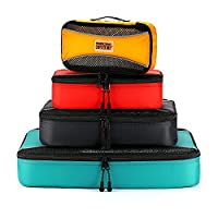 PRO Packing Cubes   4 Piece Travel Packing Cube Value Set   Ultra Lightweight Luggage Organizers   Great for Duffel Bags, Carry on Luggage, and Backpacks (Mixed Colors)