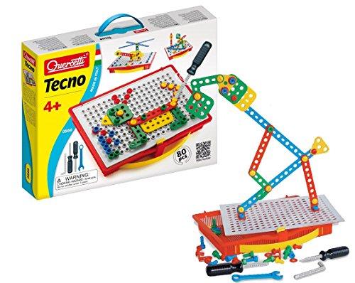 Preisvergleich Produktbild Quercetti 0560 - Fantacolor Tecno Baukasten mit Werkzeug und Schrauben