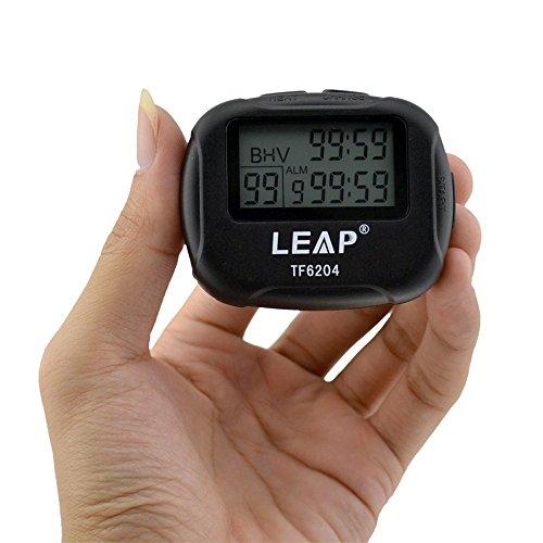 Cuzit TF6204 digitales LCD-Display Alarm Intervall Timer für Training Crossfit Laufen Yoga Gewichtheben Laufen Stoppuhr Sport Zeitnehmer